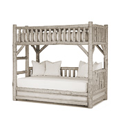 Rustic Bunk Bed with Trundle (Ladder Left) #4259L