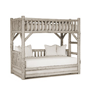 Rustic Bunk Bed with Trundle (Ladder Right) #4259R