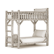 Rustic Bunk Bed Twin/Twin (Ladder Left) #4522L
