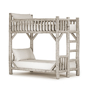 Rustic Bunk Bed Twin/Twin (Ladder Right) #4522R