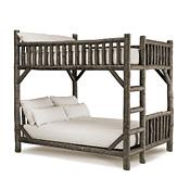 Rustic Bunk Bed Full/Full (Ladder Left) #4524L