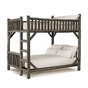 Rustic Bunk Bed Full/Full (Ladder Right) #4524R