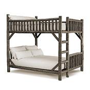 Rustic Bunk Bed Queen/Queen (Ladder Left) #4526L