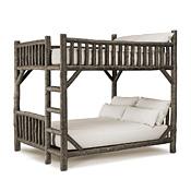 Rustic Bunk Bed Queen/Queen (Ladder Right) #4526R