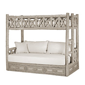 Rustic Bunk Bed with Drawers Twin/Twin (Ladder Right) #4620R