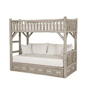 Rustic Bunk Bed with Drawers Twin/Twin (Ladder Left) #4626L