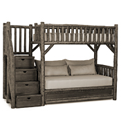 Bunk Bed w/Trundle & Stairs #4690L (3 Twins & Stairs Left)