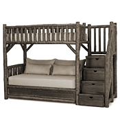 Bunk Bed w/Trundle & Stairs #4690R (3 Twins & Stairs Right)
