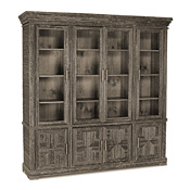 Rustic Cabinet with Glass Doors #2030