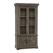 Rustic Cabinet with Glass Doors #2032