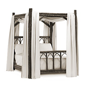 Rustic Canopy Bed Twin #4146