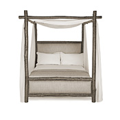 Rustic Canopy Bed Twin #4540