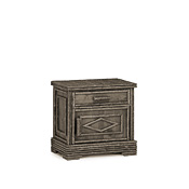 Rustic Nightstand #2155R (Hinged on Right Side)