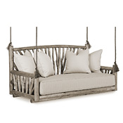Rustic Hanging Daybed #4519 (Cushion & Pillows Included)