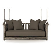 Rustic Hanging Daybed #4631 (Cushion & Pillows Included)