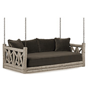 Rustic Hanging Daybed #4635 (Cushion & Pillows Included)