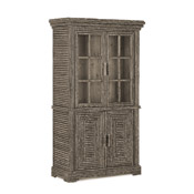 Rustic Hutch with Glass Doors #2066