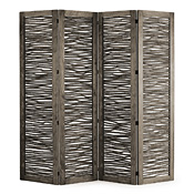 Rustic Four Panel Room Screen #5007