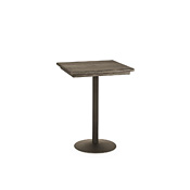 Bar Table with Pine Top & Metal Base (No Footring) #3175