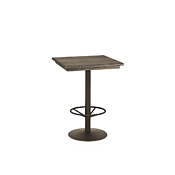 Bar Table with Pine Top & Metal Base (with Footring) #3176