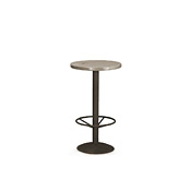 Bar Table with Pine Top & Metal Base (with Footring) #3180