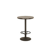 Bar Table with Pine Top & Metal Base (with Footring) #3182
