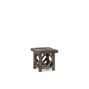 Rustic End Table with Willow Top #3236