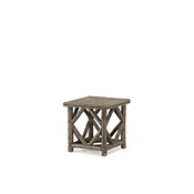 Rustic End Table with Willow Top #3240