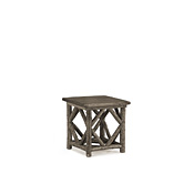 Rustic End Table with Pine Top #3242
