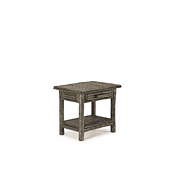 Rustic Side Table with Willow Top #3285
