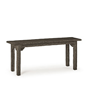 Rustic Console Table with Willow Top #3302
