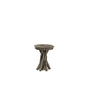 Rustic Side Table with Willow Top #3406