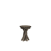 Rustic Side Table with Pine Top #3408