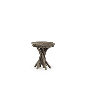 Rustic Side Table with Willow Top #3410