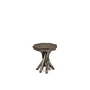 Rustic Side Table with Pine Top #3412