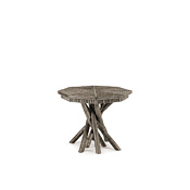 Rustic Side Table with Willow Top #3414