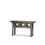 Rustic Console Table with Willow Top #3426