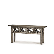 Rustic Console Table with Willow Top #3428