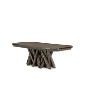 Dining Table with Pine Top With Cut Corners #3480