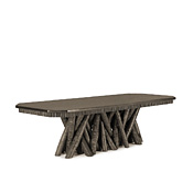 Dining Table with Pine Top With Cut Corners #3482