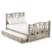 Rustic Trundle Bed Queen/Twin (Opens Left) #4514L