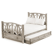 Rustic Trundle Bed Queen/Twin (Opens Right) #4514R