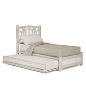 Rustic Trundle Bed Twin/Twin (Opens Left) #4652L