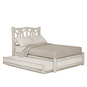 Rustic Trundle Bed Queen/Twin (Opens Left) #4656L