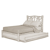 Rustic Trundle Bed Queen/Twin (Opens Right) #4656R