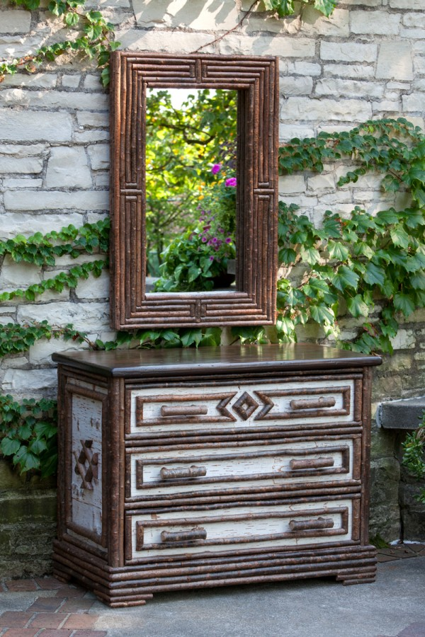 La Lune Collection Mirror #5020, 3-Drawer Chest #2136