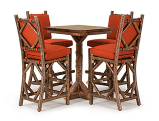 La Lune Collection Table #3049, Barstools #1298