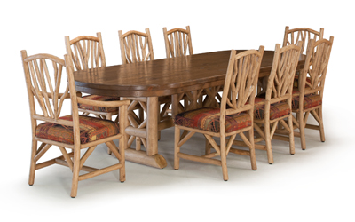 La Lune Collection Custom Table #3123, Chairs #1400 & #1402