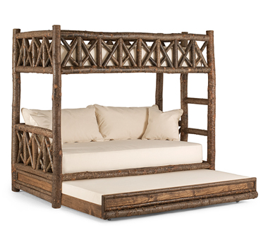 Bunk Bed w/Trundle #4256, Natural finish, by La Lune Collection