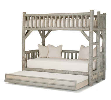 Bunk Bed w/Trundle #4259, Pewter finish, by La Lune Collection